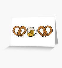 Pretzel Dog & Beer Greeting Card