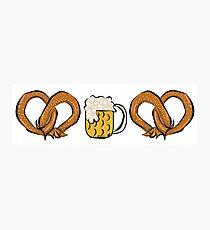 Pretzel Dog & Beer Photographic Print