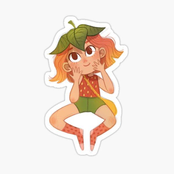 Strawberry Girl Sticker