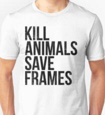 Kill Animals - Save Frames Unisex T-Shirt