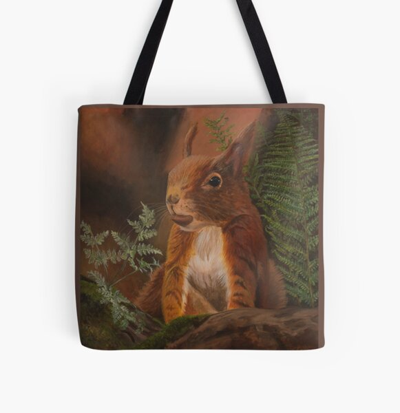 Formby Red Squirrel  All Over Print Tote Bag