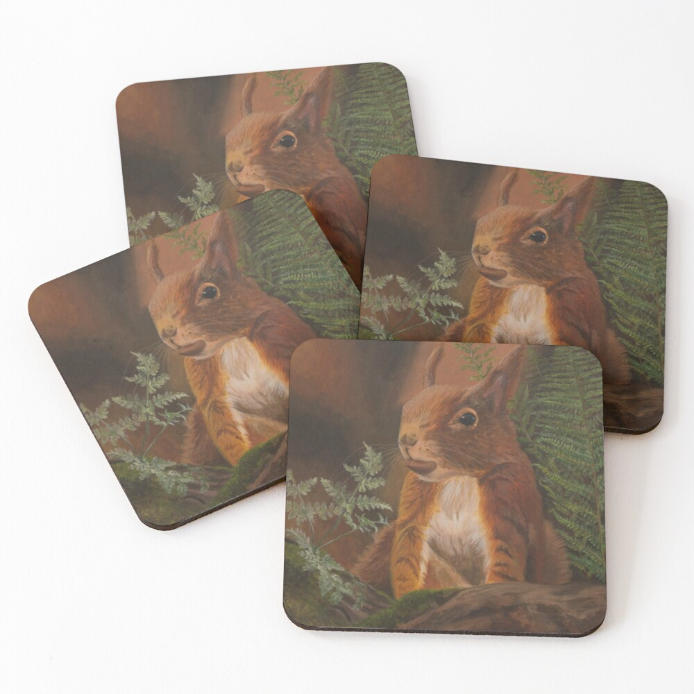 Formby Red Squirrel  Coasters (Set of 4)