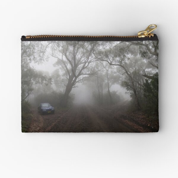 The Foggy Road to Anvil Rock Lookout Zipper Pouch