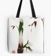 Little Lady - Zen bamboo ladybug painting Tote Bag