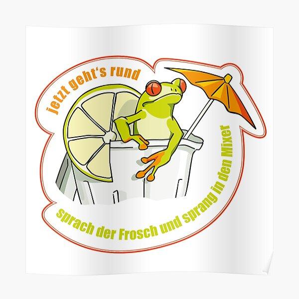 Frog in the blender Poster