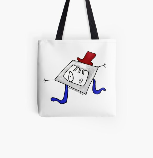 Willis the Hipster and Upcycling Monster All Over Print Tote Bag