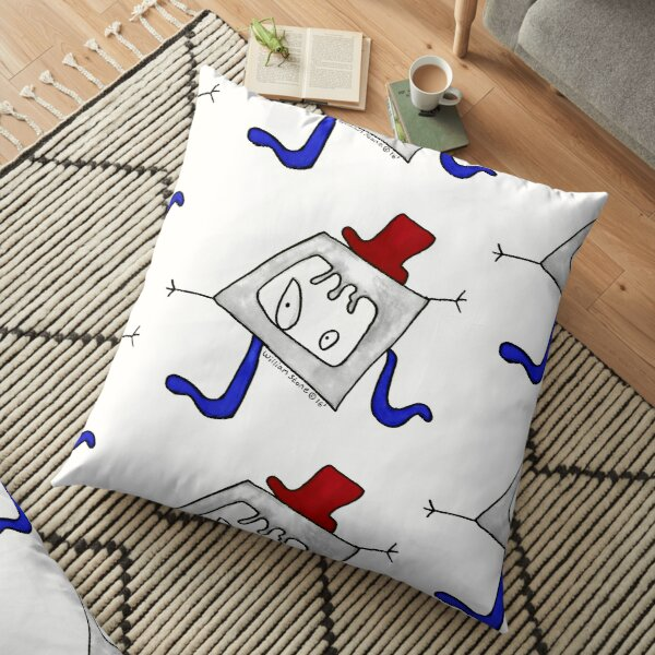 Willis the Hipster and Upcycling Monster Floor Pillow