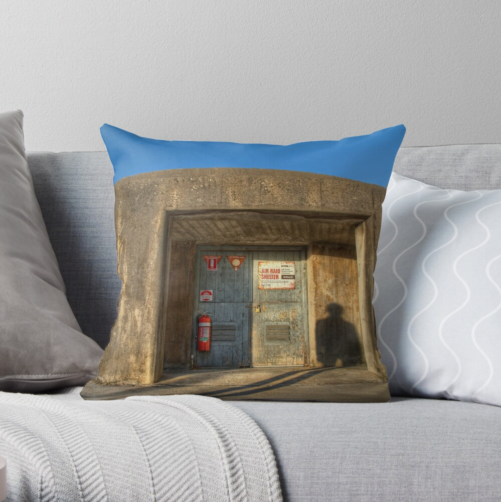 The Air Raid Shelter Throw Pillow