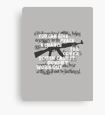 You can give peace a chance.... Canvas Print
