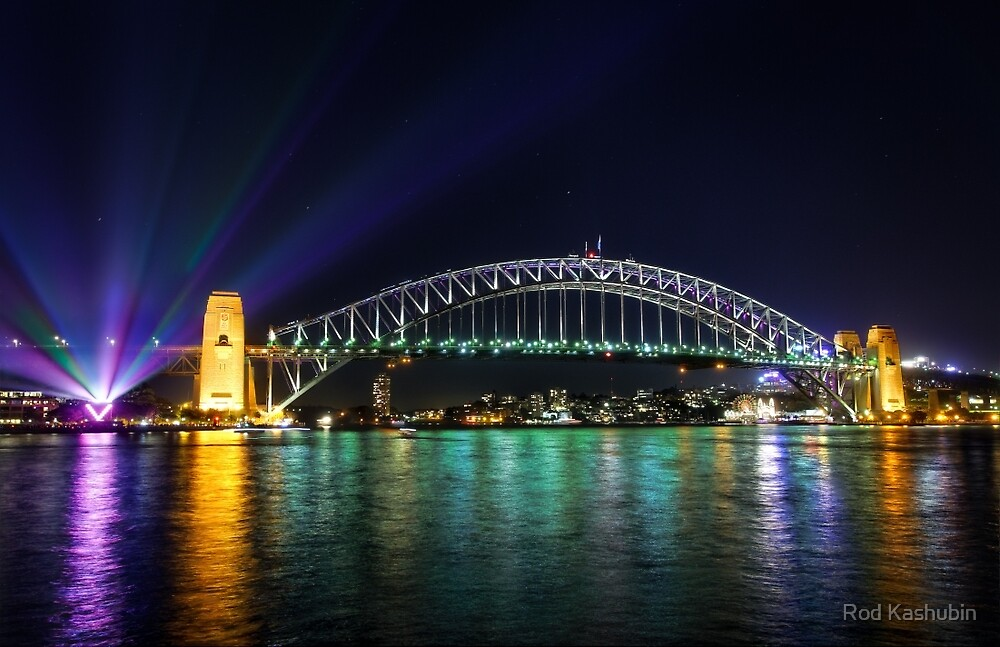 Sydney Harbour Bridge at Night by Rod Kashubin