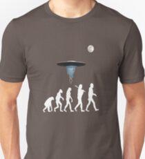 Human evolution alien intervention annunaki dark background Unisex T-Shirt