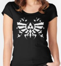 Hyrule Rorschach (white) Women's Fitted Scoop T-Shirt