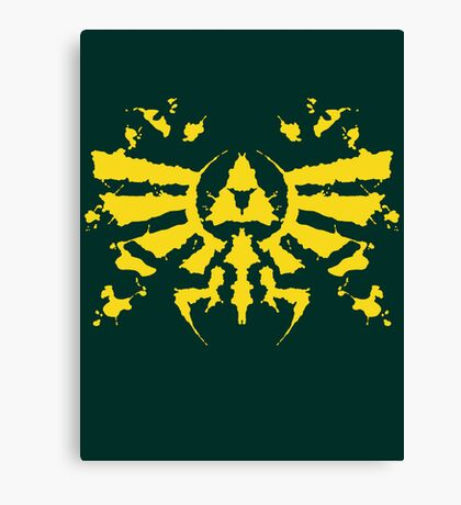 Hyrule Rorschach (gold) Canvas Print