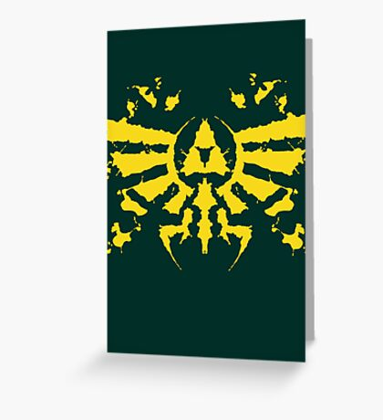 Hyrule Rorschach (gold) Greeting Card