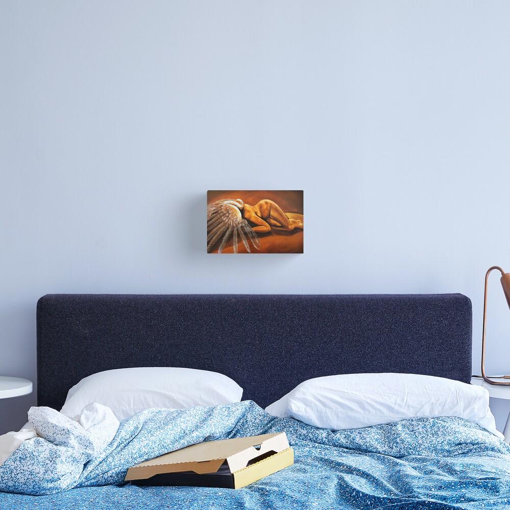 Fallen - fallen nude angel emotive oil painting Canvas Print