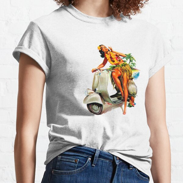 Scooter Girl Aloha Classic T-Shirt
