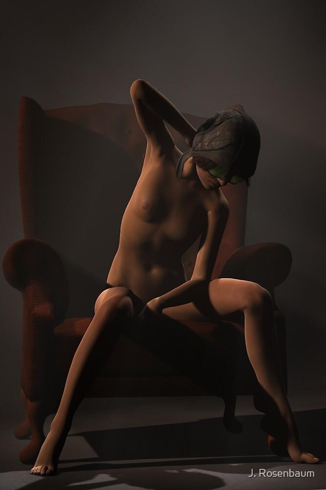 Aviatrix - Steampunk Nude Art Render by J. Rosenbaum