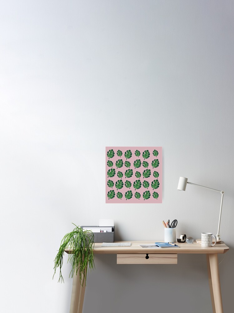 Aesthetic Cute Green Plant Wallpaper Poster By Pastel Paletted
