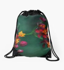 The World of Tiny Flowers Drawstring Bag
