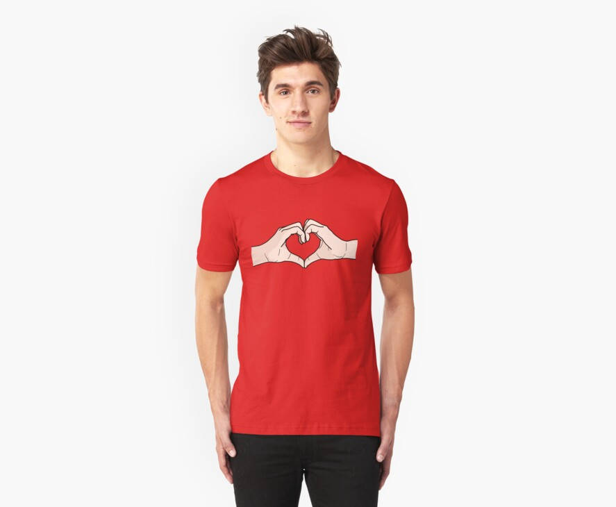 Heart Hands by DetourShirts