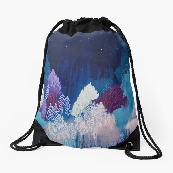Still The Night Drawstring Bag