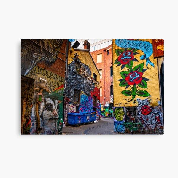 Melbourne Street Art Canvas Print