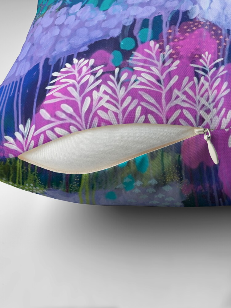Alternate view of Under The Trees Throw Pillow