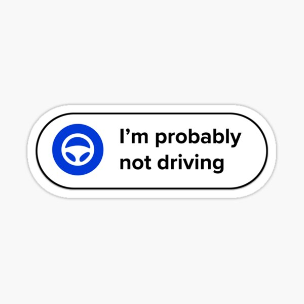 L'avenir de la conduite - blanc Sticker
