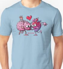 Heart and Brain: A Love Story Slim Fit T-Shirt