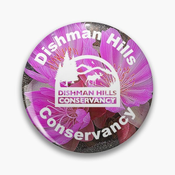 Bitterroot in the Dishman Hills with DHC logo Pin