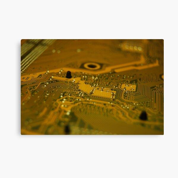 Ciruit Board Trace Patterns Canvas Print