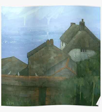 Cadgwith Rooftops Poster
