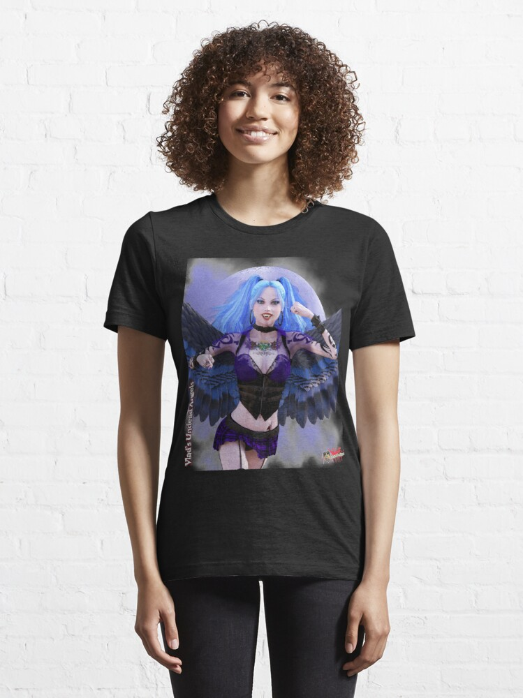 Alternate view of Undead Angels By Moonlight: Vampire Ashley Essential T-Shirt