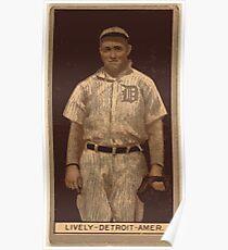 Benjamin K Edwards Collection Jack Lively Detroit Tigers baseball card portrait Poster