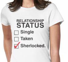 SINGLE TAKEN SHERLOCKED Womens Fitted T-Shirt
