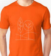 Handstitched trees Unisex T-Shirt