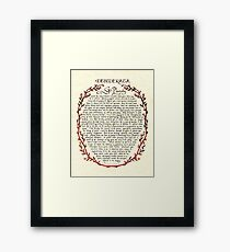 Wreath DESIDERATA Framed Print