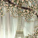 A Paris Spring iphone case by Elaine Manley