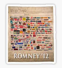 We the people, Romney 2012 Sticker