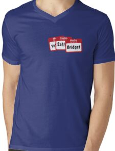 YoSafBridget Mens V-Neck T-Shirt