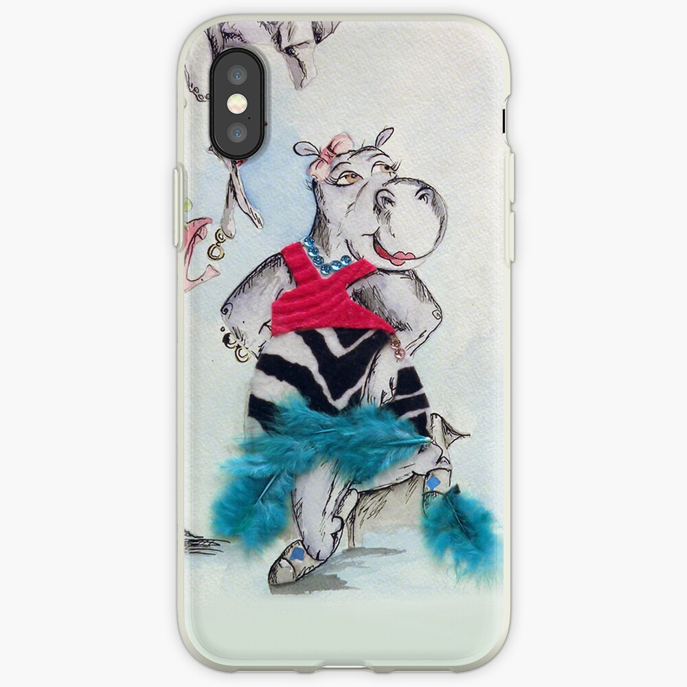 Hippo Dress up iPhone-Hülle & Cover