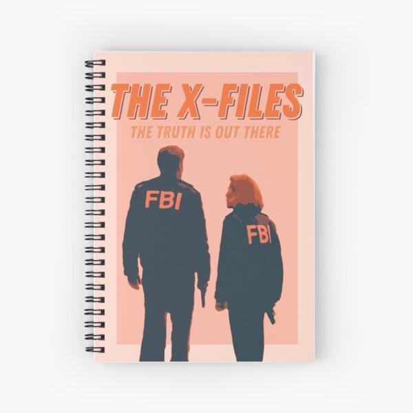 Affiche rétro d'inspiration vintage de Mulder et Scully X-FILES Cahier à spirale