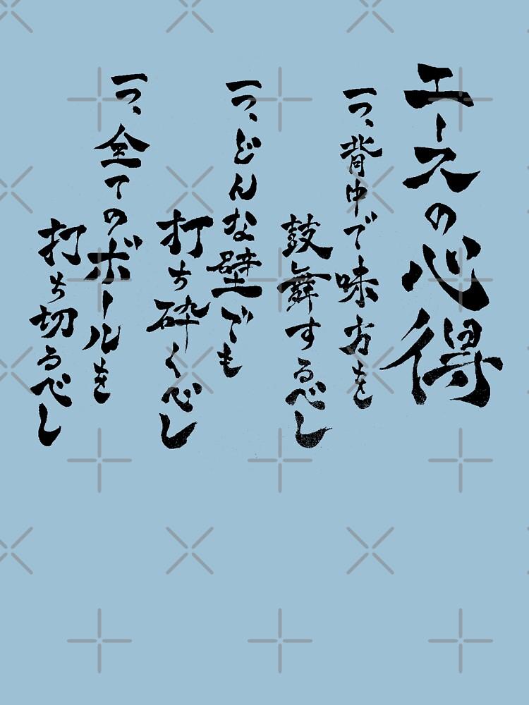 Haikyuu Wisdom of Ace Japanese by symbolized