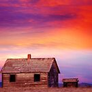 Little House On The Prairie Colorful Colorado Country Sunset by Bo Insogna