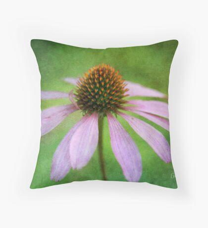 Grunge Coneflower Throw Pillow