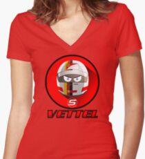 SEBASTIAN VETTEL #5_2015 Women's Fitted V-Neck T-Shirt