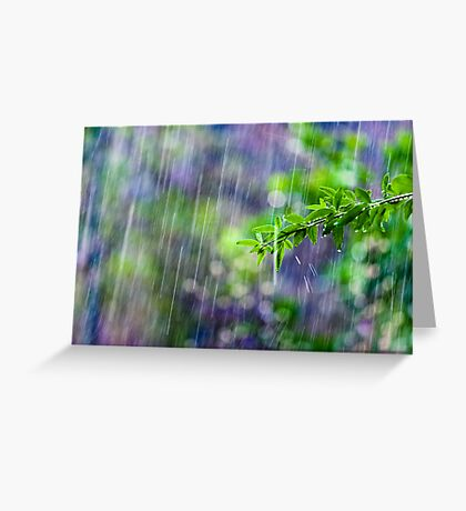 crazy rain Greeting Card