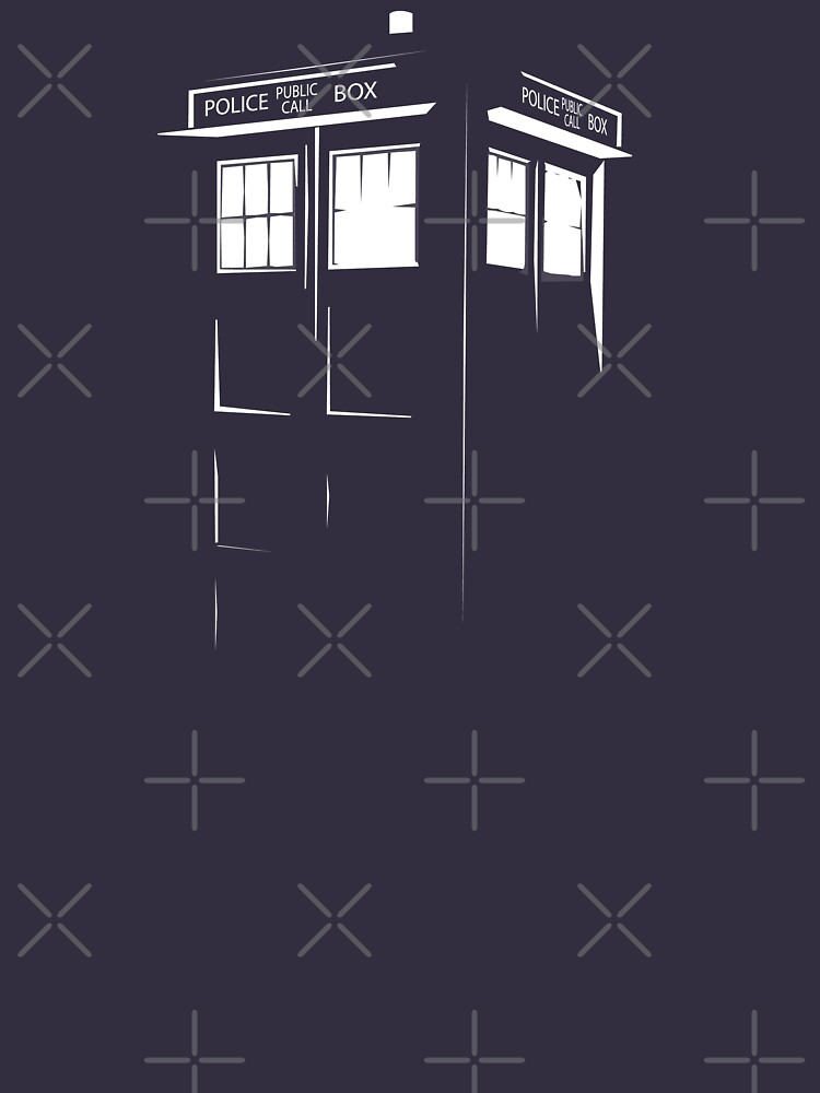 Tardis Outline | Unisex T-Shirt