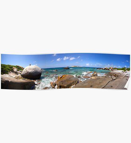 Virgin Gorda - Panoramic - Made of Rocks Poster