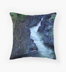 Sooke River Gorge Throw Pillow